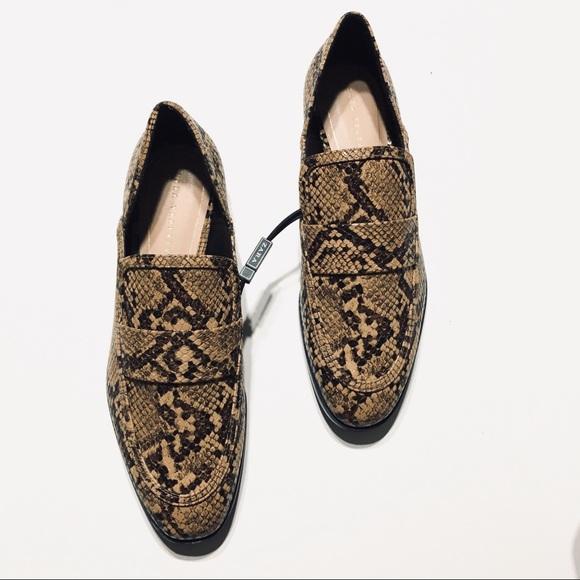 10eb44b6 Zara Shoes   Snakeskin Animal Print Loafers Flats Size 65   Poshmark